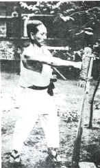Photo of Makiwara technique